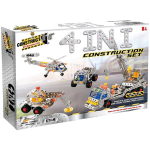 Construct-It! 4-in-1 Construction Set 404 Piece Kit, [Product Type] - Daves Deals