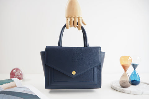Kensington Tote Bag - Night Blue Color