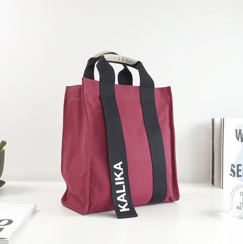 Kalika Edie Tote Bag (Tall) - Burgundy Red