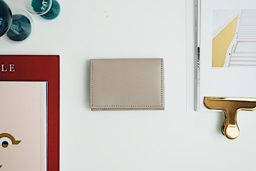Luca Card Holder - Taupe