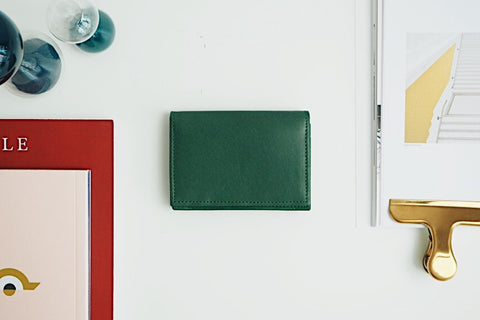 Luca Card Holder - Dark Green