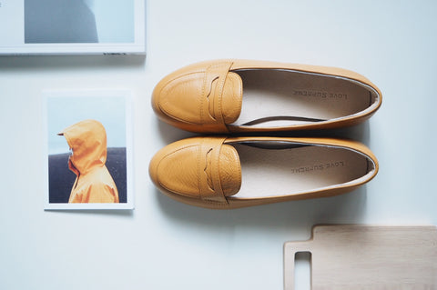 Bessie Loafer Shoe - Biscotti Yellow