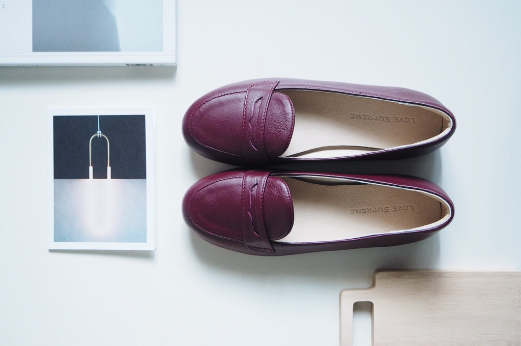 Bessie Loafer Shoe - Burgundy
