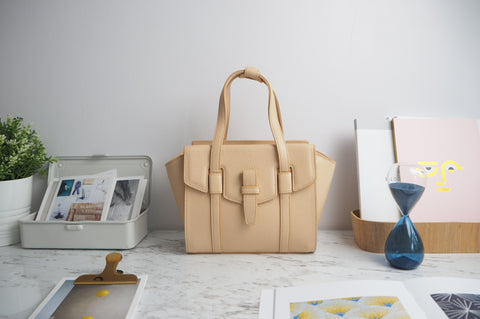 Mini Callie Tote Bag - Natural Color