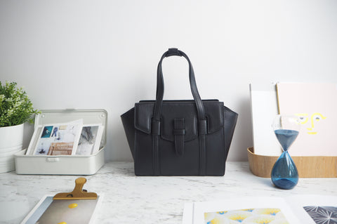 Mini Callie Tote Bag - Black Color