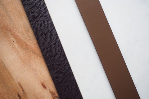 Leather Belt - Dark Brown and Brown