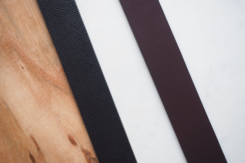 Leather Belt - Black and Brown