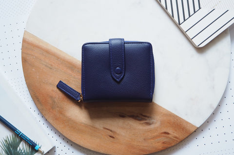Edna Short Wallet - Indigo Blue