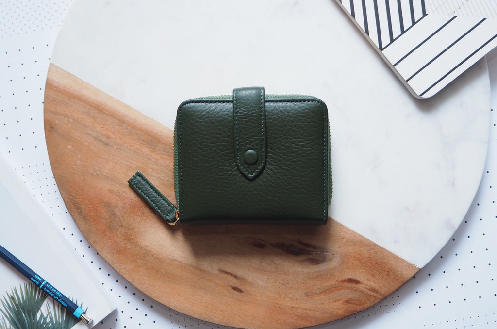Edna Short Wallet - Green
