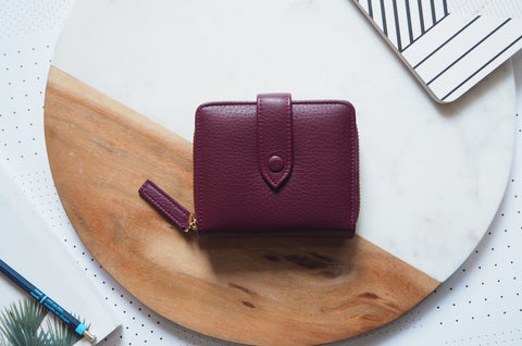 Edna Short Wallet - Burgundy