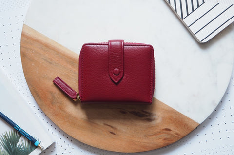 Edna Short Wallet - Red