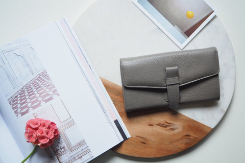 Callie Long Wallet - Gray