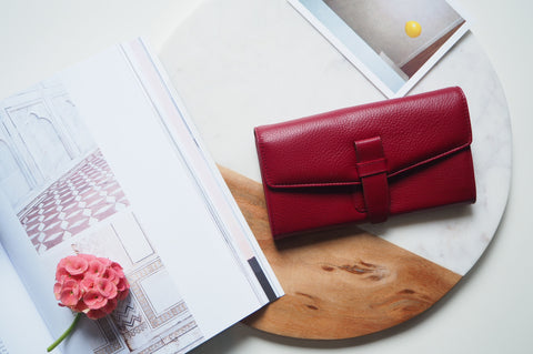 Callie Long Wallet - Red