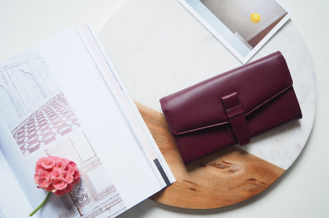 Callie Long Wallet - Burgundy