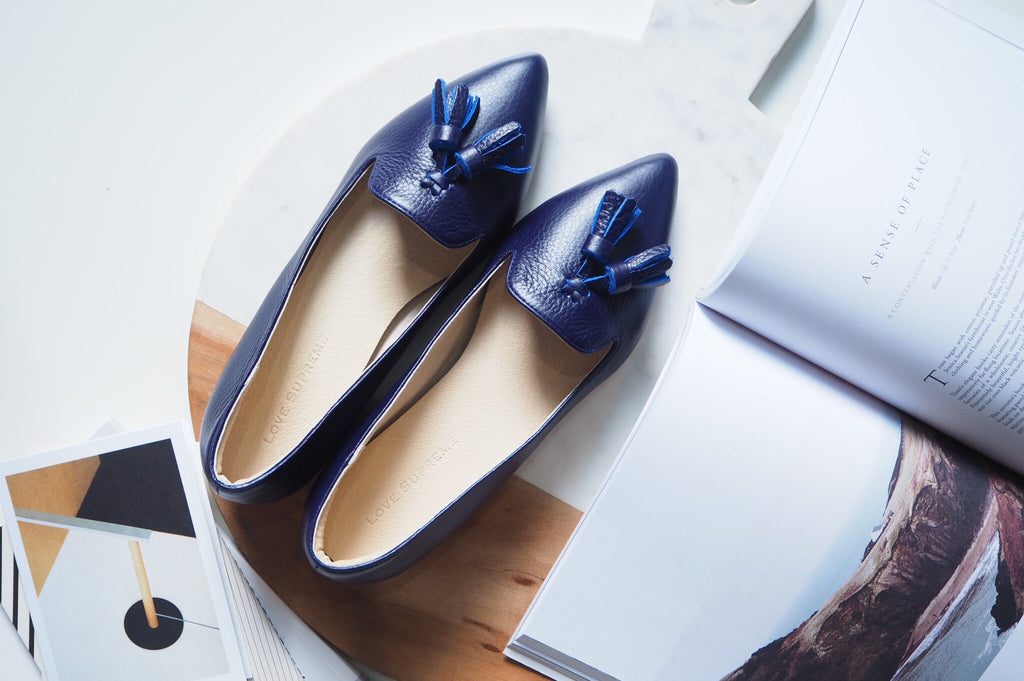 Miri Loafer Shoe - Indigo Blue