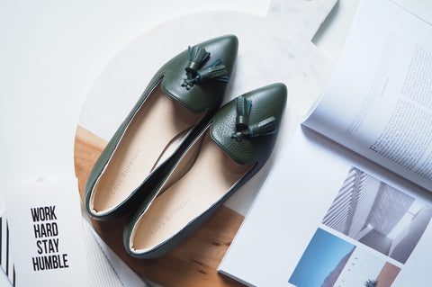 Miri Loafer Shoe - Dark Green
