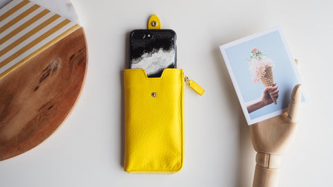 Smartphone Sleeve (L) - Yellow