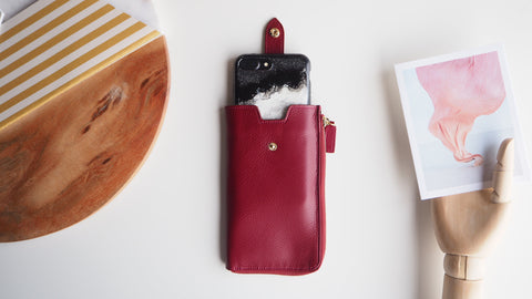 Smartphone Sleeve (L) - Red