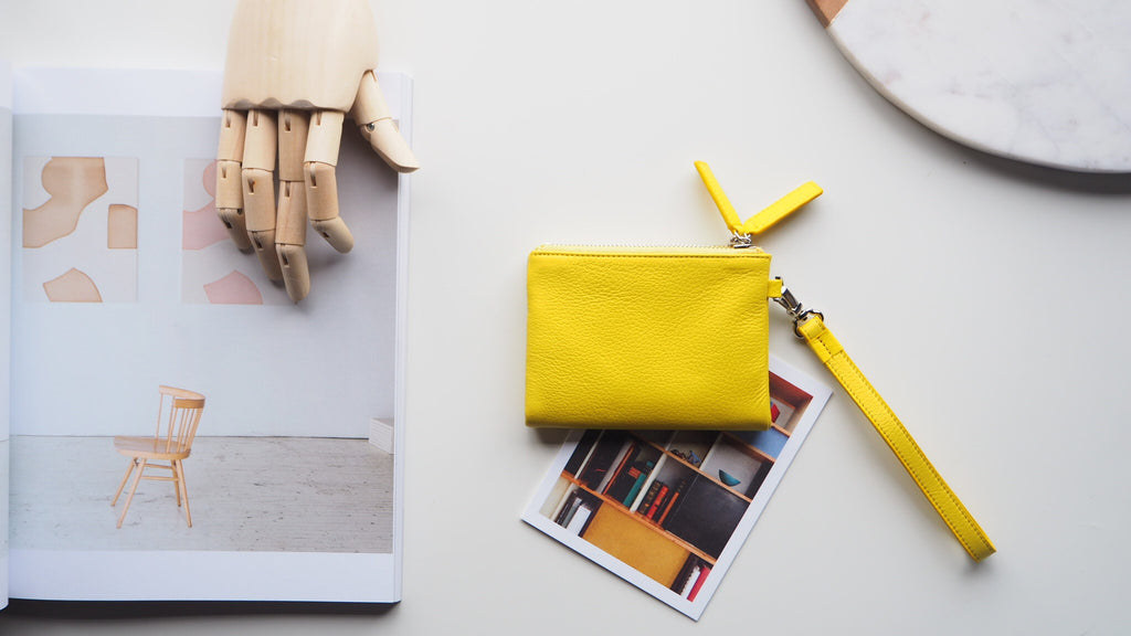 Double Zip Wallet - Yellow
