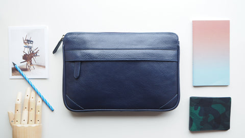 Auden Clutch (Size M) - Navy Blue