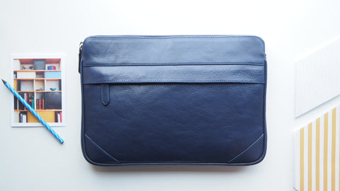Auden Laptop Computer Clutch - Navy Blue