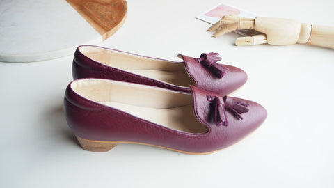 Miri High Heel Shoe - Burgundy