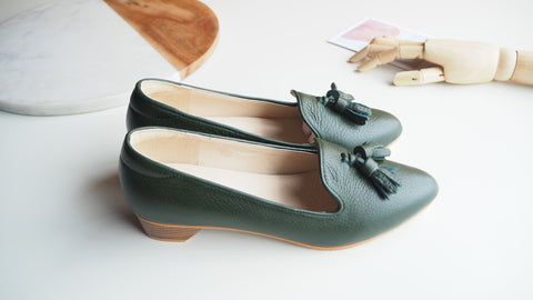 Miri High Heel Shoe - Dark Green