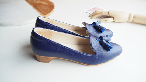 Miri High Heel Shoe - Indigo Blue