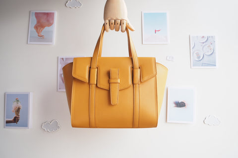 Callie Tote Bag - Biscotti Yellow Color