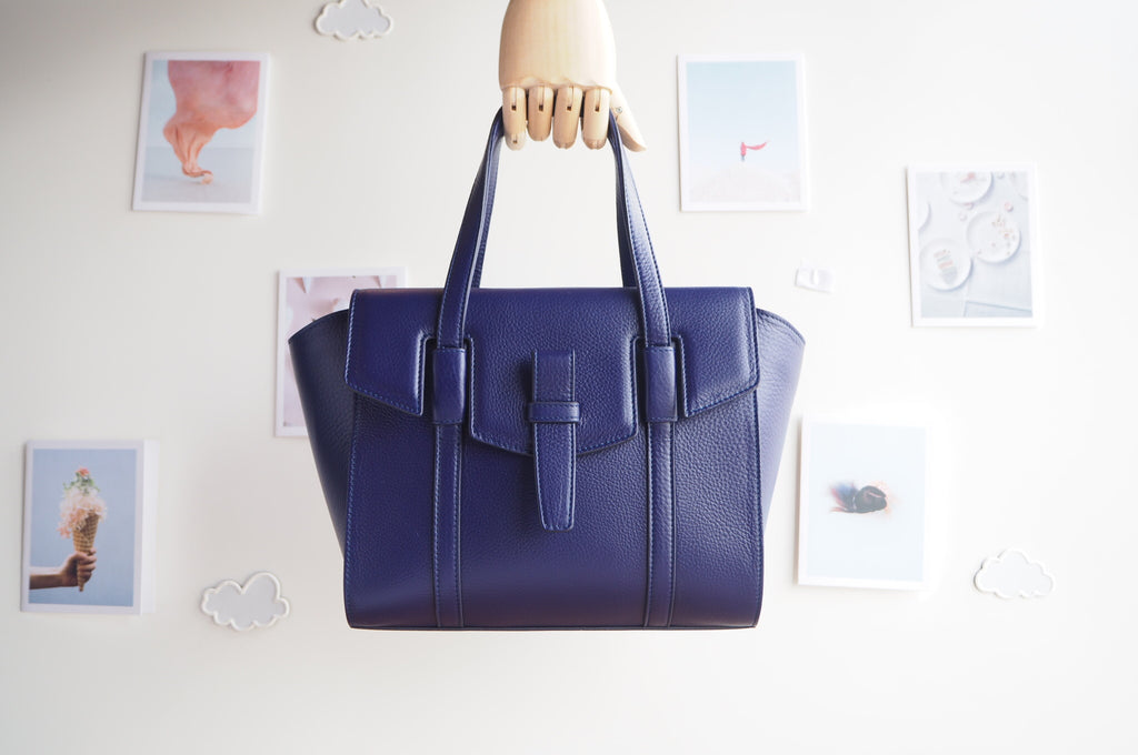 Callie Tote Bag - Indigo Blue