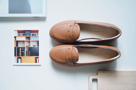 Bessie Loafer Shoe - Caramel Brown