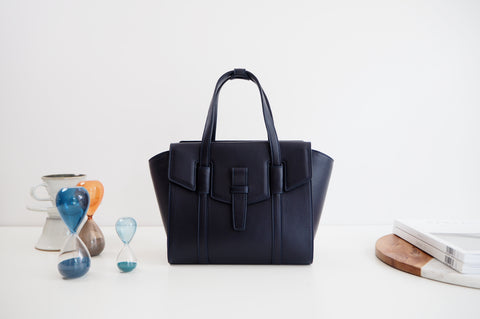 Mini Callie Tote Bag - Navy Blue Color