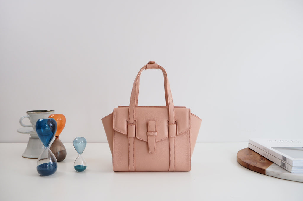 Mini Callie Tote Bag - Nude Pink Color