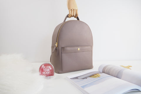 Avi Backpack (Size M) - Taupe
