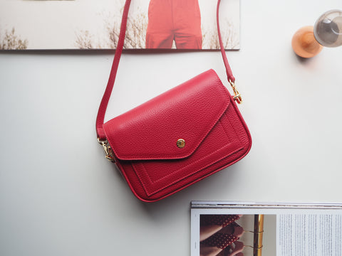 Mini Kensington Crossbody Bag - Red