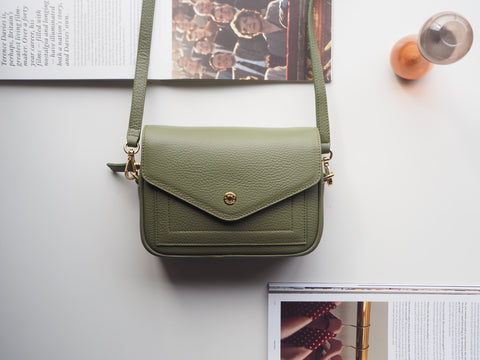Mini Kensington Crossbody Bag - Green
