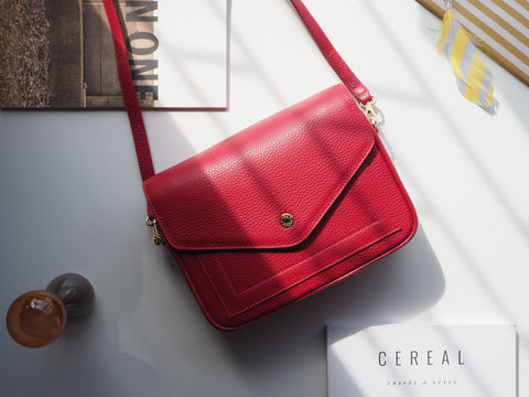 Kensington Crossbody Bag - Red