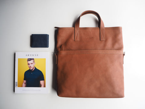 Auden Tote Bag - Caramel Brown