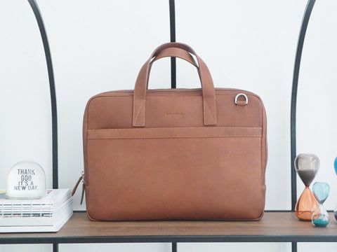 Auden Briefcase - Caramel Brown