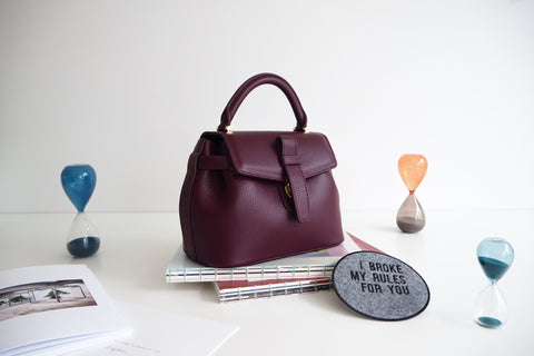 Mini Callie Bag - Burgundy