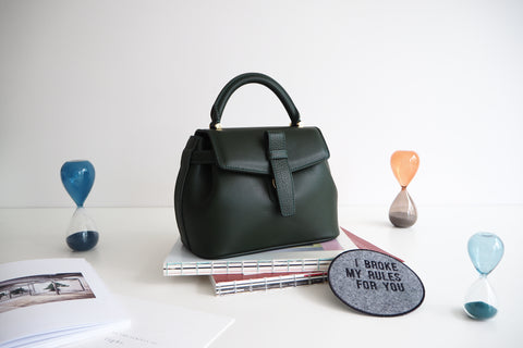 Mini Callie Bag - Dark Green