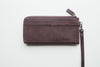 Long Dries Zip Wallet - Dark Brown