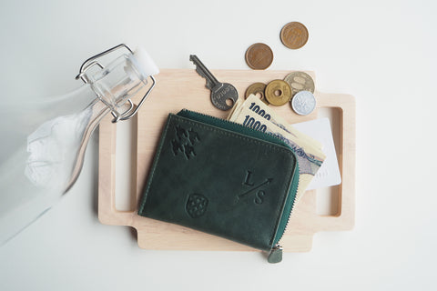 Signature Dries Zip Wallet - Green