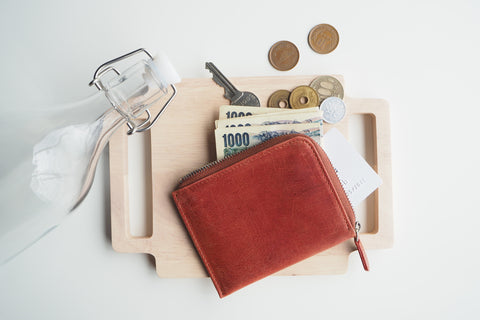 Dries Zip Wallet - Red Brown