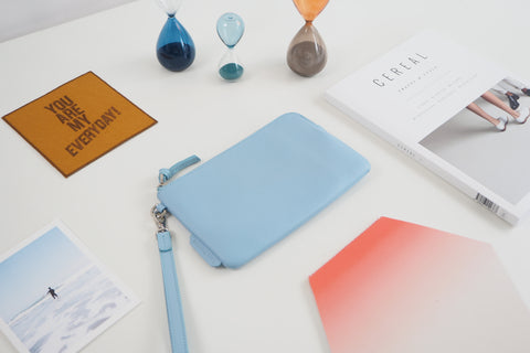 Essential Wristlet - Light Blue