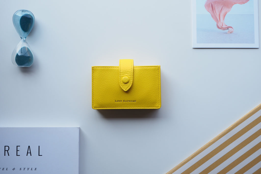 Brax Card Holder - Yellow