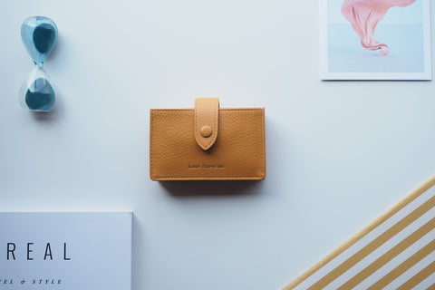 Brax Card Holder - Biscotti Yellow