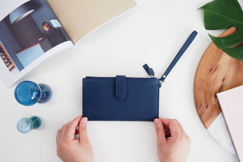 Avi Long Wallet - Navy Blue