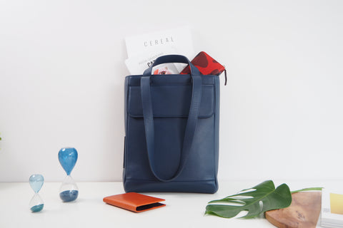 Arlo Tote Bag - Navy Blue