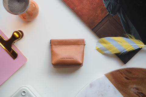 Coin Purse - Caramel Brown